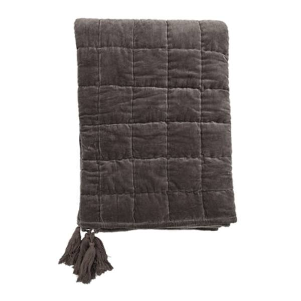 Szürke pamut ágytakaró170x130 cm