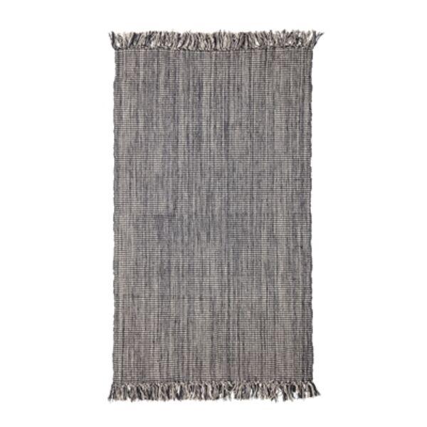 Szürke rojtos pamut szőnyeg 150x90 cm