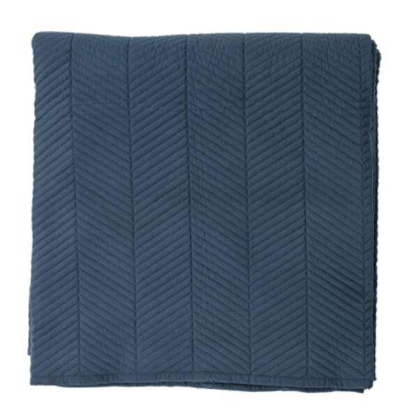 Tengerkék ágytakaró 220x260 cm