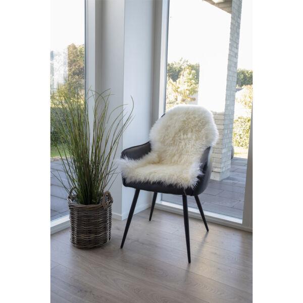 Természetes fehér báránybőr üléstakaró 80x50 cm