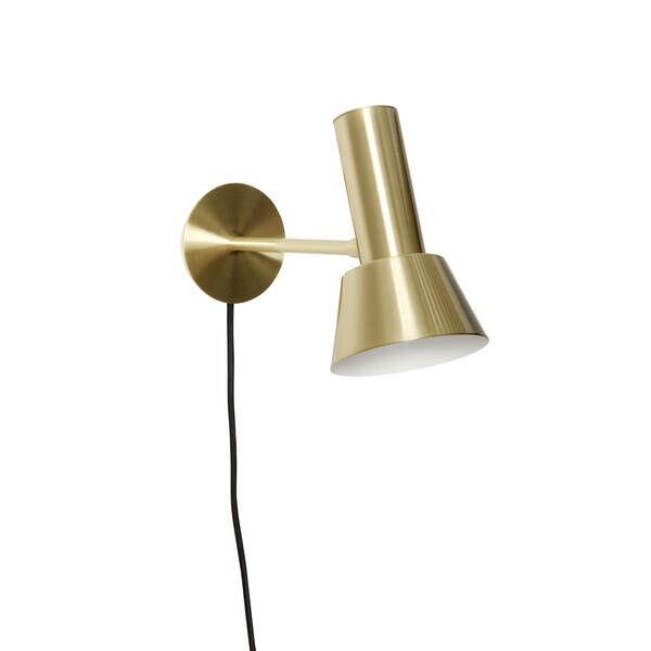 Tölcsér alakú réz fali lámpa
