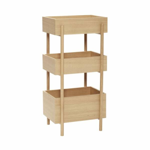 Tölgyfa 3 szintes tároló