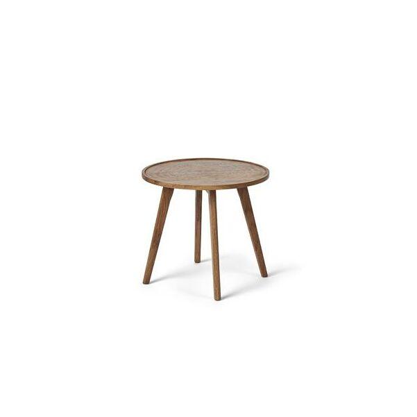 Tölgyfa kerek kisasztal