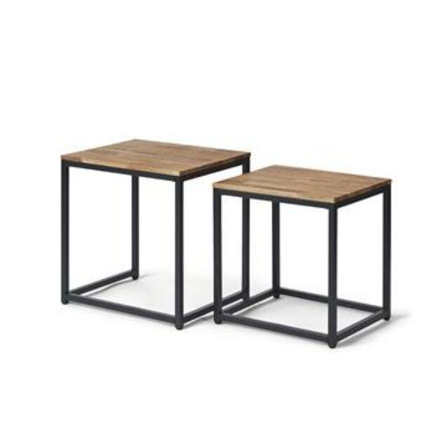 Tölgyfa kisasztal szett 2 db