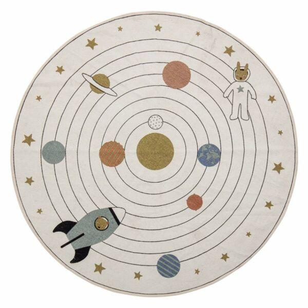 Űrhajós kör alakú pamut szőnyeg