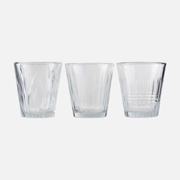Üveg vizespohár szett 6 db
