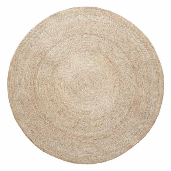 Világos natúr kör alakú juta szönyeg ø150