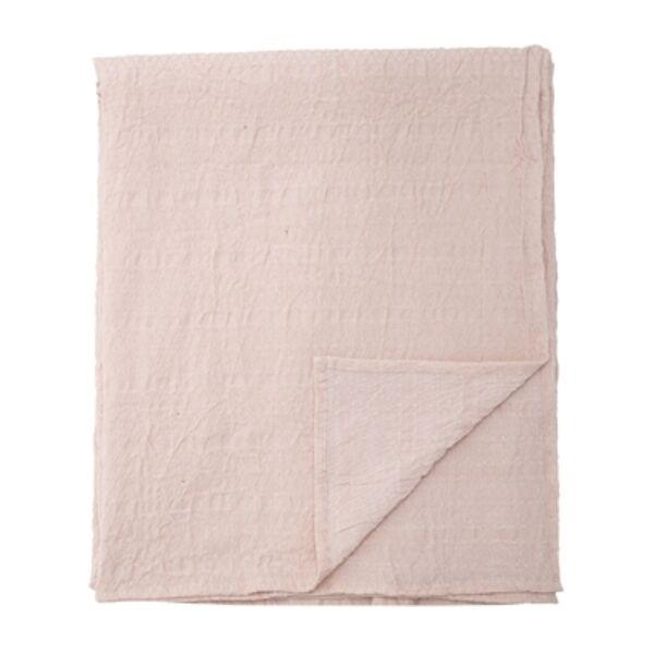 Világos rózsaszín pamut asztalterítő 340x140 cm