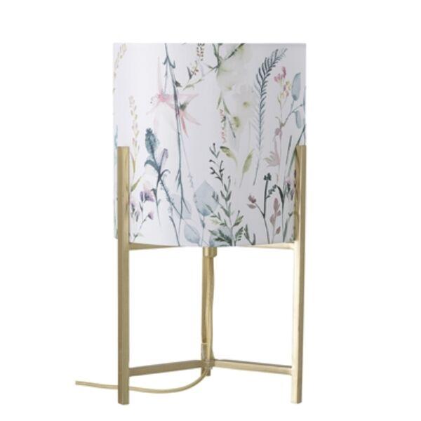 Virágos arany színű asztali lámpa
