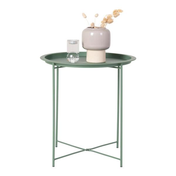 Zöld fém kisasztal