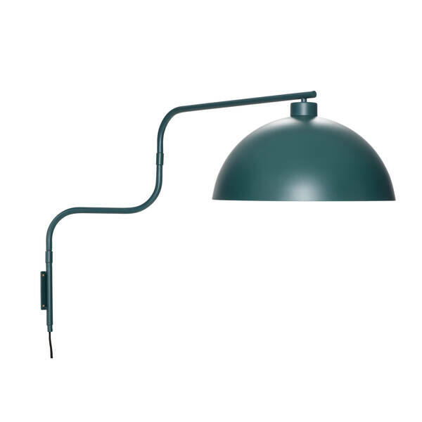 Zöld hajlított karú fali lámpa