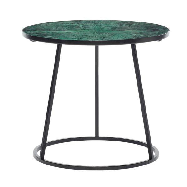 Zöld márvány kisasztal